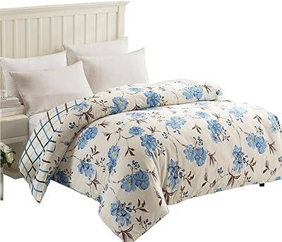 Amazon Com Zhiyuan 100 Cotton Plaid Duvet Cover Only