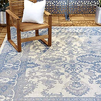 Home Dynamix NM_Patio_5ftx8ft_2531-705 Area Rug 5 2 x7 2  Gray/Blue 37 Sq Ft