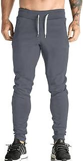 Gopune Men's Elastic Cuffed Casual Drawstring Training Jogger Athletic Pants Sweatpants -  -  X-Large