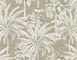 Kenneth James PS40007 Brown Dream of Palm Trees Texture Wallpaper, 2 Piece