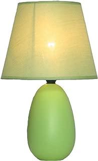 Simple Designs LT2009-GRN Mini Oval Egg Ceramic Table Lamp, Green