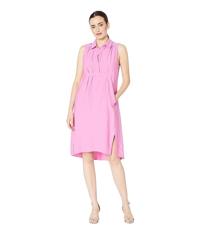 Tribal Sleeveless Woven Shirtdress (Pink) Women