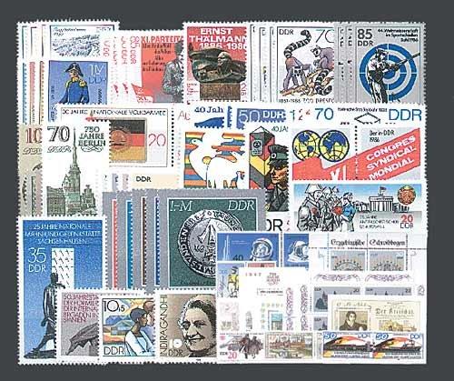 Goldhahn DDR Jahrgang 1986 postfrisch komplett Briefmarken für Sammler