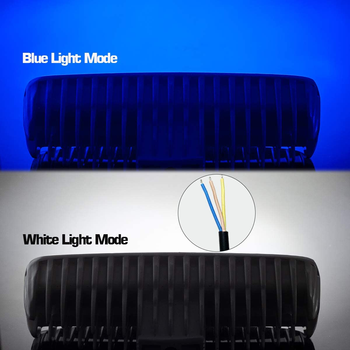 6 inch Deck Dock Fog Lights for Boat Accessories Pontoon Fishing Truck SUV ATV 12V White WFPOWER Boat Light 2 Pack Waterproof 6 Double Row Blue and White Light Color 2 Mode LED Marine Spotlights