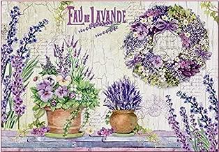 Stamperia Papel De Arroz Paper Eau De Lavande, Multicolor, 48 X 33 Cm
