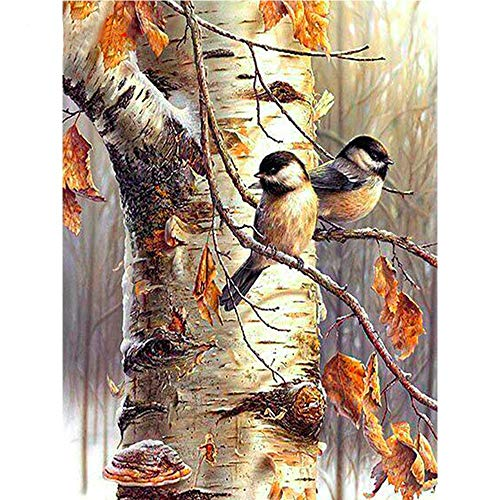 LVIITIS DIY 5D Diamond Painting Arts Sparrow Bird Kits for Adults Full Round Drill, Paintings Embroidery Pictures Craft for Home Wall Decor,5D Painting Dots Kits (Bird)