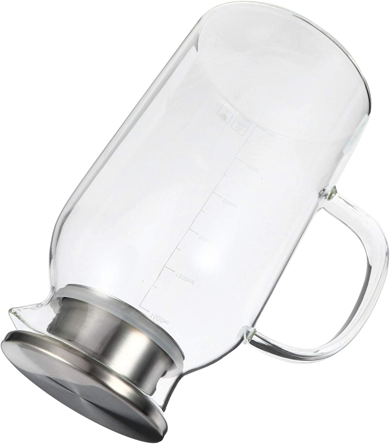 Yardwe 1800ML Glass Iced Tea Heat-Resistant Water Pitcher Max 59% Max 90% OFF OFF Large