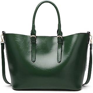 Shoulder Bag Women's Zippers Tote Bags Fashion Casual Pu Shoulder Bags Handbag Clutch (Color : Green, Size : Taglia Unica)