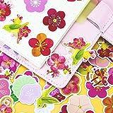 36pcs Creative Cute Selbstgemachte Pflaumen- / Blumenaufkleber DIY Aufkleber Tagebuch Album...