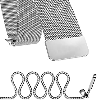 For Apple Watch 38mm - Magnetic Milanese Loop Stainless Steel Band For Apple iWatch 38mm - Silver