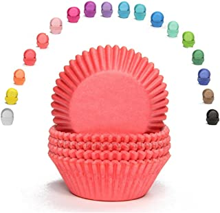 Miss Bakery's House® - Moldes para magdalenas - papel - estándar - Ø 50 mm x 30 mm - rojo - 75 piezas