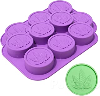 Marijuana Leaf Silicone Soap, Butter, Candy Mold Tray, 2 Pack, 12 Cavities