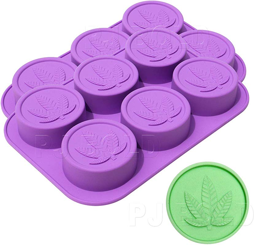 Marijuana Leaf Silicone Soap Butter Candy Mold Tray 2 Pack 12 Cavities