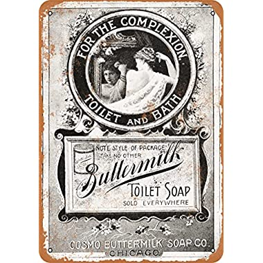 Wall-Color 7 x 10 METAL SIGN - 1895 Buttermilk Toilet Soap - Vintage Look Reproduction