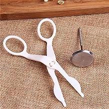 أدوات الخبز والمعجنات - أدوات تزيين الكيك الجديدة مقص + تزيين الأظافر ملحقات الخبز أدوات المطبخ (وردي)
