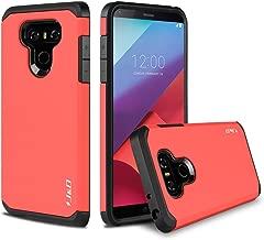 J&D Case Compatible for LG G6 / LG G6 Plus Case, Heavy Duty [Dual Layer] Hybrid Shock Proof Protective Rugged Bumper Case for LG G6 Plus, LG G6 Case - Red
