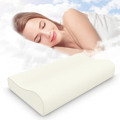 Memory Foam Pillow, ESEOE Contour Care Pillow Sleeper Orthopedic, Anti Snore to Prime Soft Supportive Comfortable Washable Sleep Pillow with Cipped Washable Cover(58*32CM)