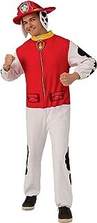 Men's Paw Patrol Adult Marshall Costume Jumpsuit