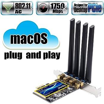 Fenvi T919 のWiFi/Bluetooth PCIe拡張カードBCM94360CD Hackintosh 無線モジュールFV-T919 macOSと互換性が高Wi-Fiカード 2.4Ghz/5Ghz Bluetooth 4.0 Handoff Continuity OS X 10.10 Yosemite, OS X 10.11 El Capitan, macOS 10.12 Sierra, macOS 10.13 High Sierra, macOS 10.14 Mojave macOS Catalina 10.15.1, Windows 10/8/7
