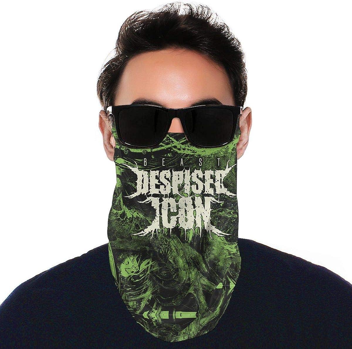 SIPONE Washable Men's & Women's Dokken Reusable Multiuse Bandanas Neck Gaiter Print Mask