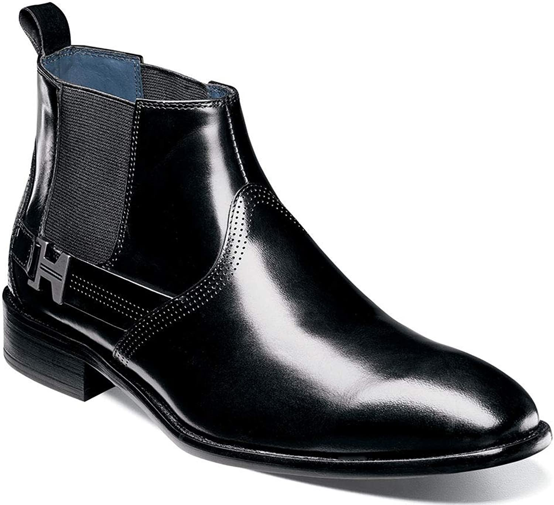 Stacy Adams Man's Joffrey Plain Plain Plain Toe Chelsea Dress Boot  fri frakt och utbyte.