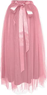 Dancina Women's Girls' Ankle Length Tutu Maxi A-line Long Tulle Skirt