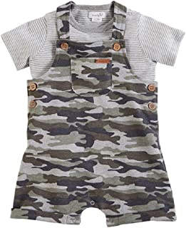 Mud Pie Baby Boy's Camo Short Overalls and Shirt (Infant)