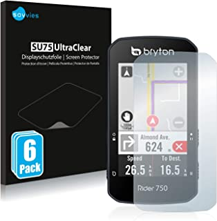 savvies Protector Pantalla Compatible con Bryton Rider 750 (6 Unidades) Pelicula Ultra Transparente
