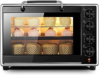 Horno de cocina, 40 hornos Horno casero Horno eléctrico automático de gran capacidad para pasteles, control de temperatura independiente para la parte superior e inferior, manija de acero inoxidable