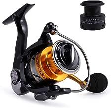 Gosccess Carrete de Pesca Izquierda/Derecha Intercambiable Carretes de Spinning Potente y Viene con un Carrete de Repuesto Gratis