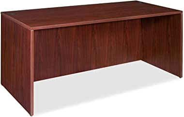 Lorell Desk Shell, 60 by 30 by 29-1/2-Inch, Mahogany