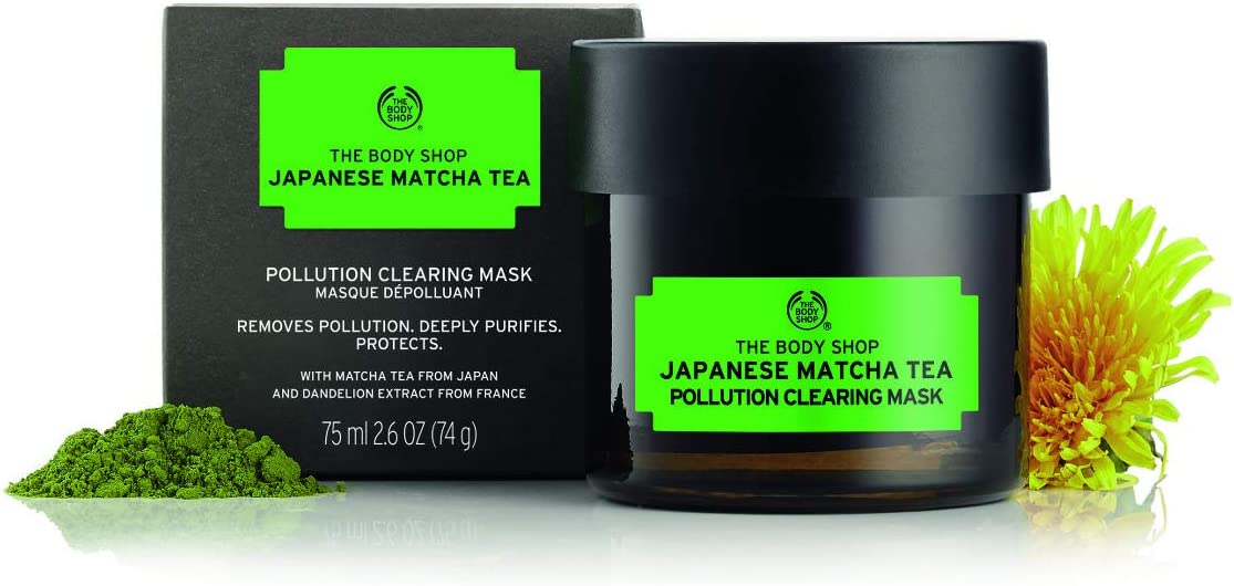 The Body Shop Japanese Matcha Tea Pollution Clearing Mask For Unisex, 2.6 Oz.