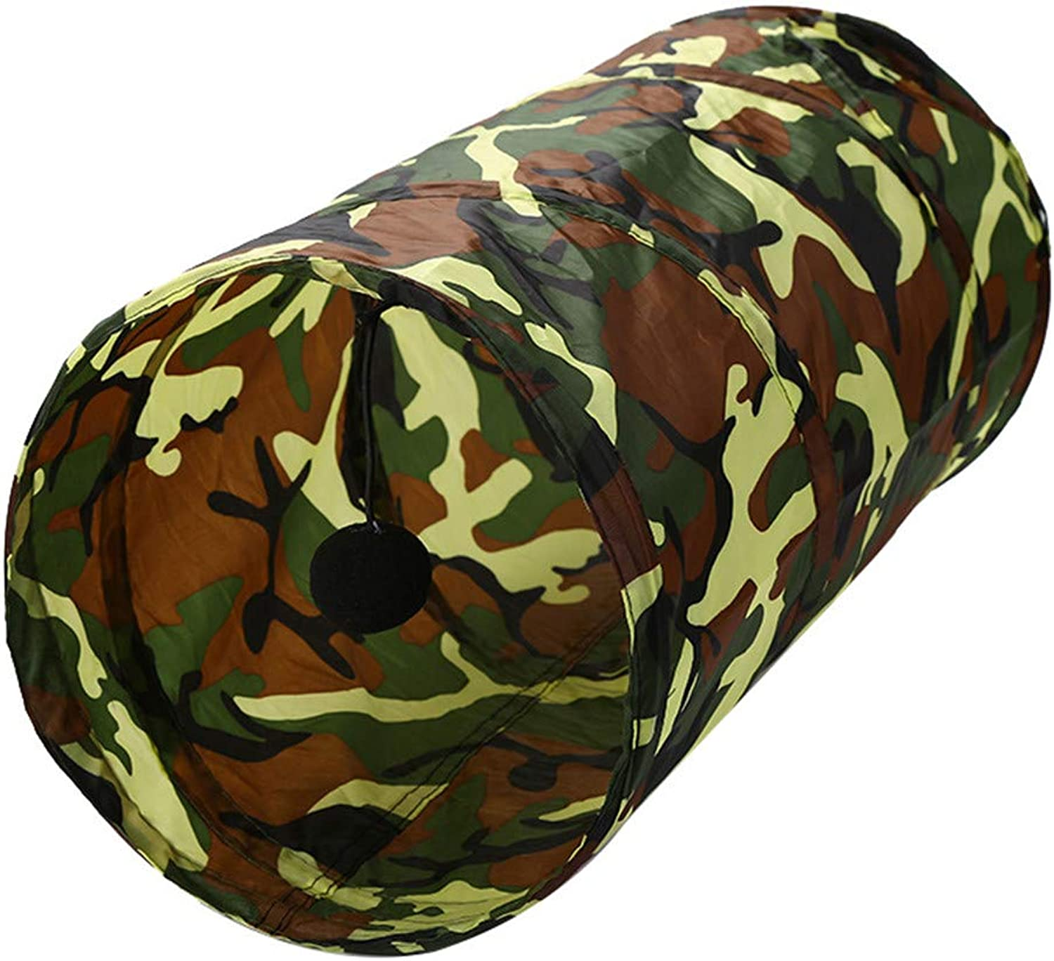 Camouflage Foldable Polyester Cloth Cat Tunnel Cat Tent Cat Toy Cat Channel Cat Supplies Set of 3 Happy Together