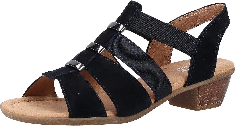 Gabor Womens Joan Suede Textile Sandals