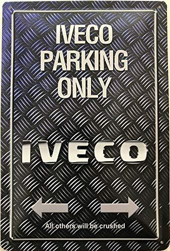 Deko7 blikken bord 30 x 20 cm Iveco Parking Only Griffel