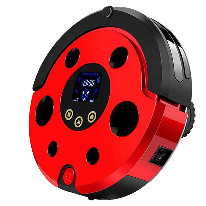 里親お金固めるロボット掃除機、4つのクリーニングモード、ロボット掃除機、自己充電、硬質表面床および薄いカーペットに適しています, red