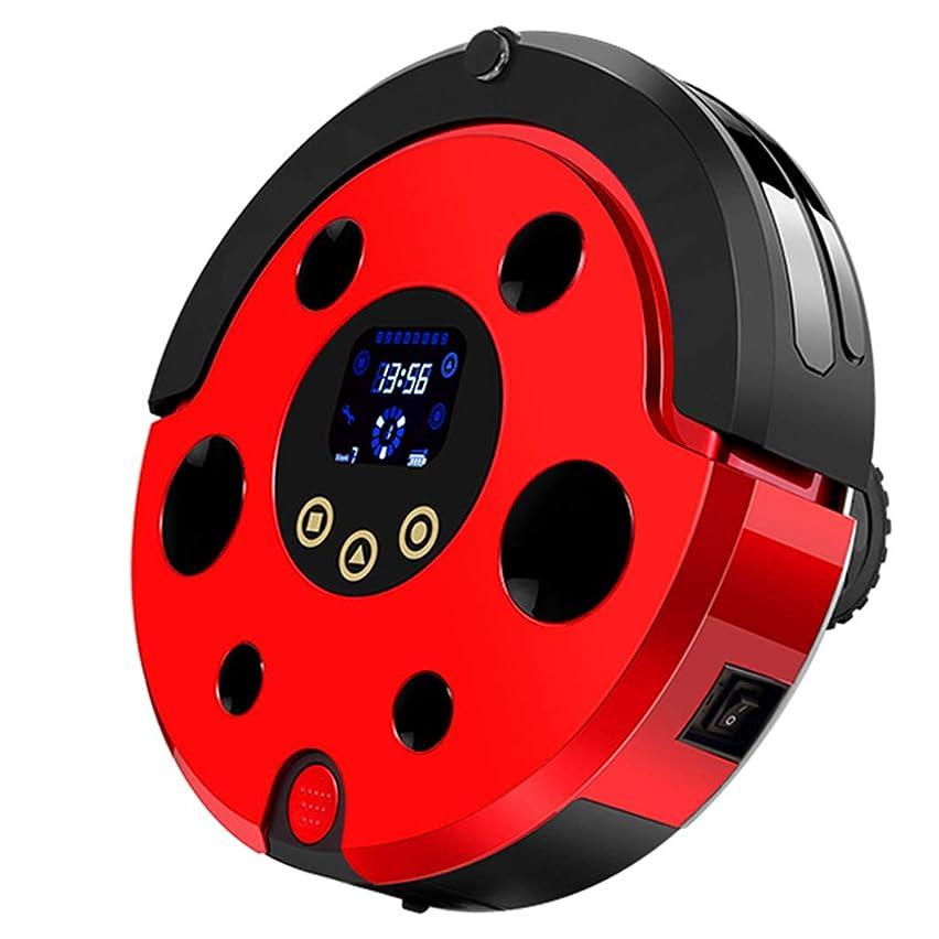 モンゴメリー支援する研究ロボット掃除機、4つのクリーニングモード、ロボット掃除機、自己充電、硬質表面床および薄いカーペットに適しています, red