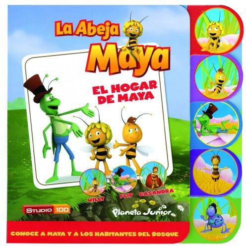 La Abeja Maya. El hogar de Maya: Libro de cartón con pestañas...