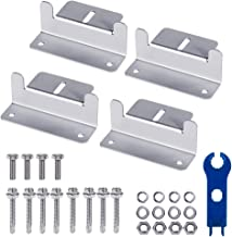 Wigbow Solar Panel Mounting Z Brackets with Nuts and Bolts - for RV, Boat, Roof, Wall and Other Off Gird Solar Panel Mounting (a Set of 4 Units) (1 Set)