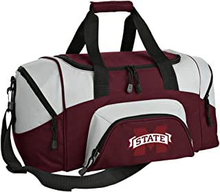 Small MSU Bulldogs Gym Bag Deluxe Mississippi State University Travel Bag