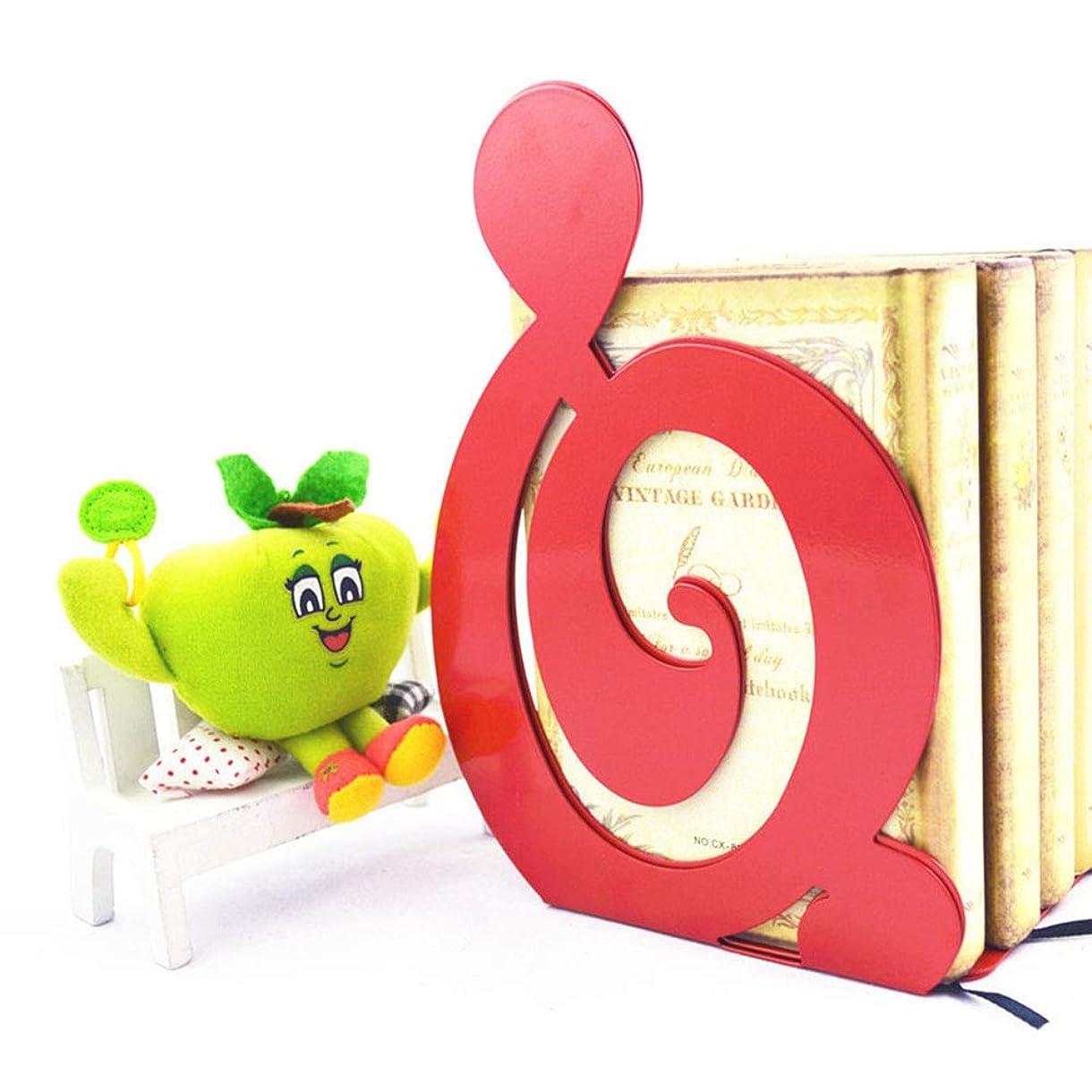 永遠のヒギンズリップブックスタンドブックレットノートブックバッフルシンプルスタイルブックスタンドクリップブックサポートフレームブックマーク (Color : Red)