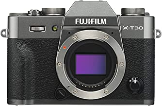 Fujifilm X-T30 Mirrorless Digital Camera, Charcoal Silver (Body Only)