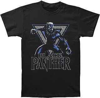 Impact The Black Panther Movie Triangle Logo Mens T-Shirt Black