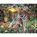 yaonuli DIY Pintar por númerosPintura de Tigre sobre Lienzo para Decorar Animales en la habitación. 40x50cm Sin Marco