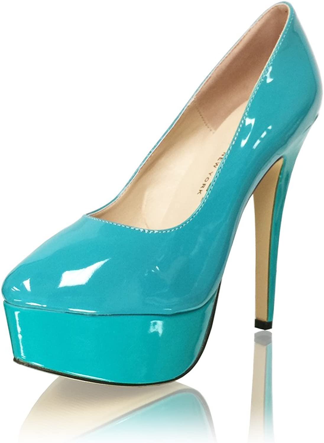 Marc Defang New York Women's Patent Leather Platformed High Heel Pumps