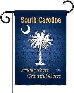 "Breeze Decor G158148 South Carolina Americana States Impressions Decorative Vertical Garden Flag 13\"" x 18.5\"" Printed In ..."