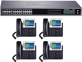 $764 » Grandstream GXP2140 Enterprise 4 Line IP Phone Dual Gigabit Ports Integrated PoE 4-Units + GXW4224 24 Port FXS Analog VoIP...