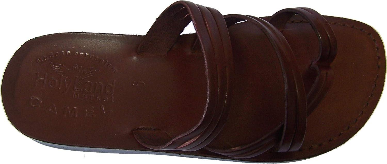 Holy Land Market Unisex Biblical Flip Flops (Jesus - Yashua) Shepherd's Field Style Brown