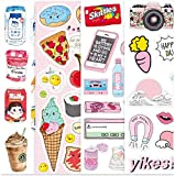 ZJJHX Dibujos Animados Personalizados Cute Computer Refrigerator Hand Account Stickers Ins Female Trolley Suitcase Travel Box Stickers Waterproof 55 Piezas