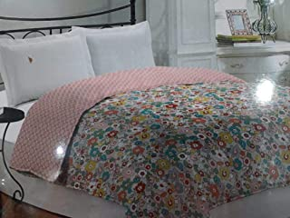 Bombay Dyeing 100% Polyster Double Bed Dohar/Ac Blanket- Multicolor,Floral